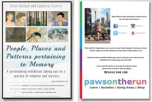 Expo invite for Brisbane artist and flyer for Sydney trainer